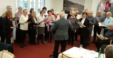 Gesangsprobe im Pavillon des Tertianums al Lido